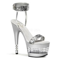 SALE ON NOW! Pleaser Adore 778LN Silver/Glitter.
