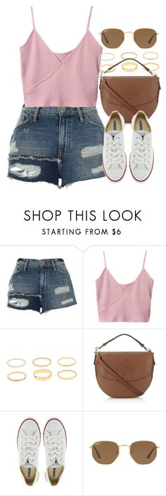 """""""Sin título #13164"""" by vany-alvarado ❤ liked on Polyvore featuring River Island, Mulberry, Converse and Ray-Ban"""