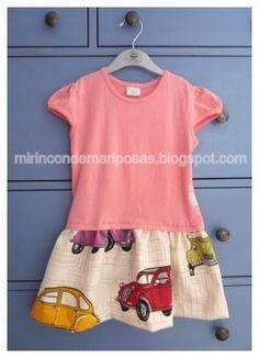 mi rincón de mariposas: Transformar una camiseta en vestido