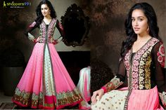 Shop Online Exclusive ‪Shraddha Kapoor Pink Creame #Anarkali #Suit at Rs. 250 Extra Discount + UPTO 10% OFF. PAY Online and Get More Discount. Buy Now:- http://www.shoppers99.com/shraddha_kapoor_long_anarkali_suits/shraddha_kapoor_pink_creame_anarkali_suit_t-510-905