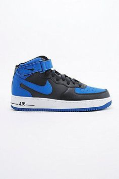 Nike Air Force 1 Mid Trainers in Game Royal #shoes #offduty #royal #covetme #nike