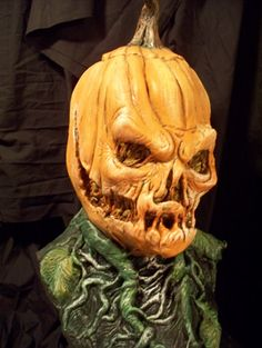 pumpkinrot mask | ... Studios Rotting Jack Pumpkin Corpse LATEX Halloween Mask Prop