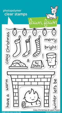 Lawn Fawn - Lawn Fawn - Cozy Christmas Stamp Set now available at The Rubber Buggy Christmas Post, Cozy Christmas, Christmas Vacation, Lawn Fawn Blog, Lawn Fawn Stamps, Christmas Nail Designs, Tampons, Copics, Digital Stamps