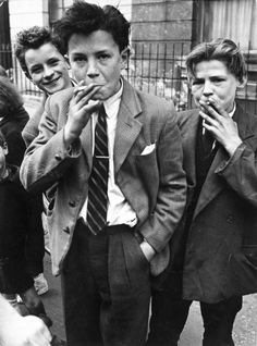 Boys Smoking, Portland Road, North Kensington 1956   Photo: Roger Mayne