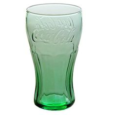 Lots OF Genuine Coca-Cola Green Glass Contour Glasses 16 oz New Free Shipping