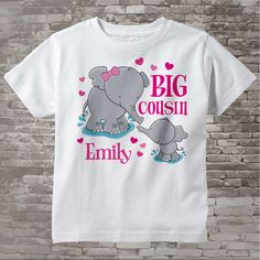 Elephant Big Cousin Shirt Big Cousin Elephant Tee Shirt or Big