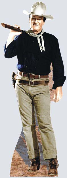 Advanced Graphics Hollywood's Wild West John Wayne - Rifle on Shoulder Cardboard… Vintage Hollywood, Classic Hollywood, Westerns, John Wayne Movies, Cowboy Up, Cowgirl Tuff, Cowboy Western, Cowgirl Style, Western Style