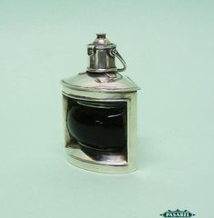 Pasarel - Novelty Sterling Silver Ship's Lantern Table Lighter, Lawrence Emanuel, Birmingham, 1897. $1500.00