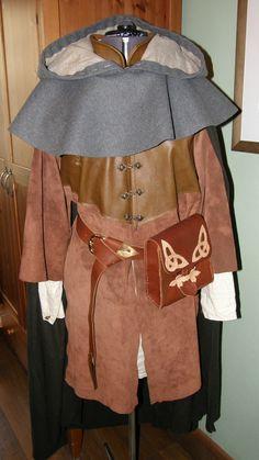 Gothic la edad media cinturón de cuero con adorno en la cintura nudo celta en altmessing