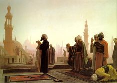 """Jean-Leon Gerome (Jean Leon Gerome) (1824-1904) La Priere au Caire Oil on panel 1865 49.9 x 81.2 cm (19.65"""" x 31.97"""")"""