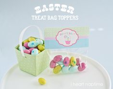 Bunny Bait printable easter bag toppers...cute treats to give or make with your kids this Easter!!