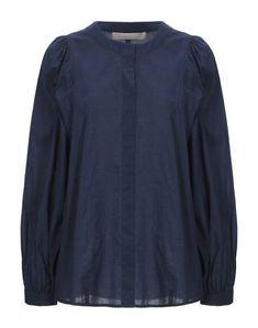 Plain weave No appliqués Basic solid color Long sleeves V-neck No pockets Vanessa Bruno, Shirt Blouses, Shirts, Blouses For Women, Weave, Dark Blue, Pockets, Long Sleeve, Sleeves