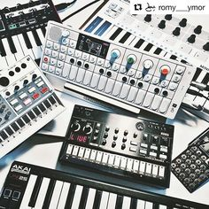 #Repost @romy___ymor ・・・ Synth o'clock !  HERO & OP-Bunny stands from @cremacaffeeshop http://cremacaffedesign.com/op-bunny/ http://cremacaffedesign.com/hero/  #op1 #po16 #teenageengineering #volcasample #korg #volca #cremacaffedesign #akai #lpk25 #sound #doodle #keyboard #synth #nerdout!