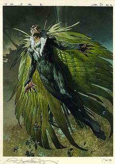 Vulture by Simone Bianchi - Marvel Comics Comic Book Artwork Marvel E Dc, Marvel Comics Art, Fun Comics, Marvel Heroes, Marvel Universe, Vulture Marvel, Comic Villains, Superhero Villains, Spider Man