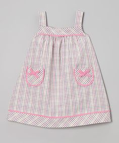 Loving this Pink & Purple Pocket Swing Dress - Infant & Toddler on #zulily! #zulilyfinds