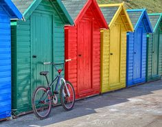 Beach hut bicycle by woollyback #travel #traveling #vacation #visiting #trip #holiday #tourism #tourist #photooftheday #amazing #picoftheday