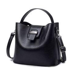 03e0490a20 Fashion lock Ladies Shoulder Bag Pink Black Blue Gray Women. Designer  Leather HandbagsLuxury HandbagsMetallic Tote ...