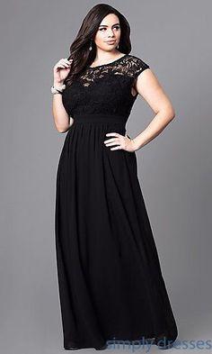 Shop lace-bodice plus-size formal dresses at Simply Dresses. Long a- 327dcf63eac2