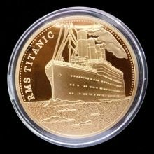 Moeda Comemorativa Titanic Navio Incidente Colecao Presentes Artes