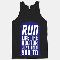 Run Like The Doctor Just Told You To por ActivateApparel en Etsy, $29.00