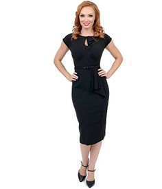 Stop Staring! 1940s Style Black Fitted Timeless Wiggle Dress, http://www.amazon.com/dp/B00Q7AWPOQ/ref=cm_sw_r_pi_awdm_gxVXub0PWM3DT