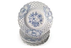 Meissen Reticulated Plates, S/6 on OneKingsLane.com