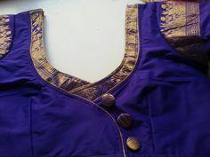 Blouse Neck Patterns, Cotton Saree Blouse Designs, Salwar Neck Designs, Neckline Designs, Back Neck Designs, Designer Blouse Patterns, Dress Neck Designs, Sari Blouse, Patch Work Blouse Designs