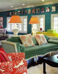 Living Room Inspiration_Barrie Benson_Love the Blue on the Walls for a Living Room