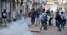 Clashed erupted in Pulwama Monday after students took out a protest rally demanding release of their colleagues.