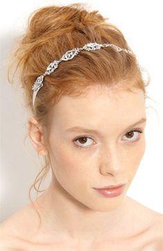 Nina 'Abril' Crystal Ribbon Head Wrap | Nordstrom