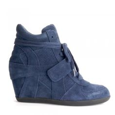65ef48e21b7 Ash BOWIE midnight suede trainers Womens Wedge Trainers