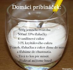 "How to make home-made ""Pribinacek"" / Recept na domaci ""Pribinacek"" - Czechmatediary Slovak Recipes, Czech Recipes, Sicilian Recipes, Sicilian Food, Yogurt Recipes, Baby Food Recipes, Dessert Recipes, Czech Desserts, Sweet Desserts"