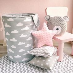 ♥ These lovely cushions are handmade and designed by me. Very soft and so nice to touch. Material: plush Minky and cotton. Stuffed with an anti allergenic stuffing. The dimensions of the Unicorn pillow: 43 cm = 17 inches long 38 cm = 15 inches tall The dimensions of the Bear pillow: #UnicornPillow