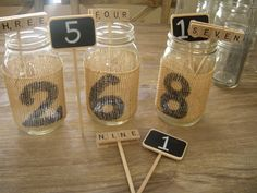 wedding theme inspiration Scrabble infused weddings mason jar centerpieces