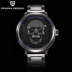 47.80$  Buy here - http://alibjw.shopchina.info/go.php?t=32809015234 - Brand PAGANI DESIGN Punk 3D Skull Personality Retro Fashion Men's Watches Large Dial Design Waterproof Quartz Watch Dropshipping  #magazineonlinewebsite