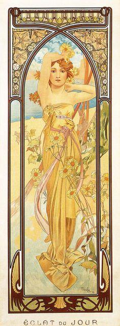 """Alphonse Mucha: Éclat du Jour 1899 de la série """"Les Heures du Jour"""""""