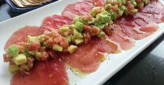 Tuna Carpaccio my version recipe main photo Tuna Recipes, Seafood Recipes, Appetizer Recipes, Cooking Recipes, Healthy Recipes, Appetizers, Tuna Tartar, La Trattoria, Great Recipes