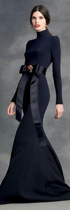 Vestido tallado negro
