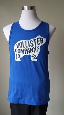 Hollister size M blue #cotton top tank casual sleeveless shirt (no tags) NEW visit our ebay store at  http://stores.ebay.com/esquirestore