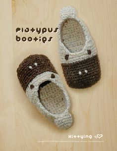 Platypus Toddler Booties Crochet PATTERN Kittying Crochet Pattern by kittying.com from mulu.us This pattern includes toddler sizes 4 to 9.