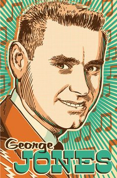 George Jones - Pop Art Print - 13 x 19 by RedRobotCreative on Etsy https://www.etsy.com/listing/164093541/george-jones-pop-art-print-13-x-19