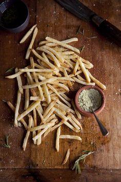 Fries with Lemon + Rosemary +Salt.