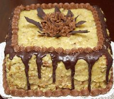 German Chocolate Wedding Cake | Small German Chocolate