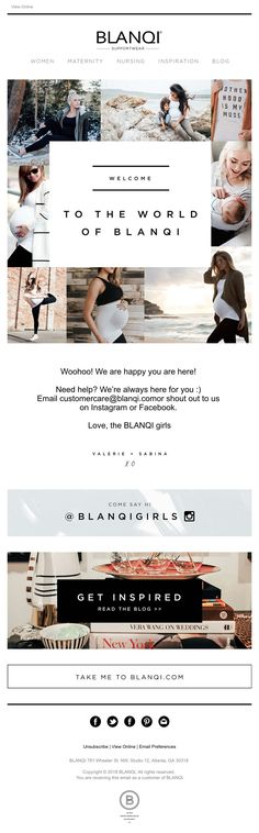 Subject Line: Welcome to the World of BLANQI Email Marketing, Digital Marketing, Welcome Emails, Always Here For You, Email Design, Maternity Nursing, Shout Out, Happy, Blog