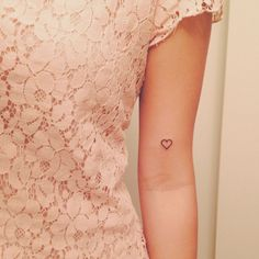 Cute little loveheart tattoo on inside arm.