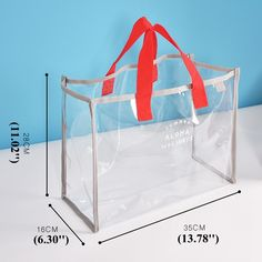 Women PVC Transparent Capacity Handbag Beach Bag Travel Swimming Bags is designer, see other popular bags on NewChic. Tote Handbags, Purses And Handbags, Transparent Bag, Clear Bags, Bag Patterns To Sew, Online Bags, My Bags, Travel Bags, Sewing Projects