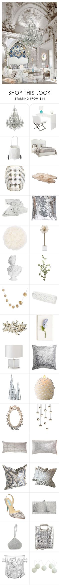 """Frozen"" by deborah-518 ❤ liked on Polyvore featuring interior, interiors, interior design, home, home decor, interior decorating, Crystorama, Control Brand, Olli Ella and UGG Australia"