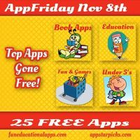 Another great AppFriday with 25 FREE APPS apps in 4 categories. -7 Apps forUnder 5's-5 Top Apps for Education-8 Free Book Apps- and...