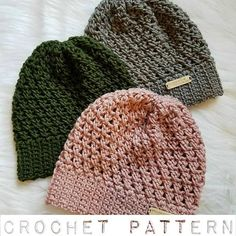 This listing is for a PDF crochet pattern, not a finished hat<< The Riley Hat Skill Level - easy/intermediate Written in standard US terms. Pictures are included to help better explain certain steps. Instructions are for a standard womans size, but I have also included notes on