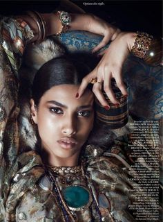 FAB Editorial: Egyptian-Moroccan Model Imaan Hammam For Vogue Paris August 2014 Issue